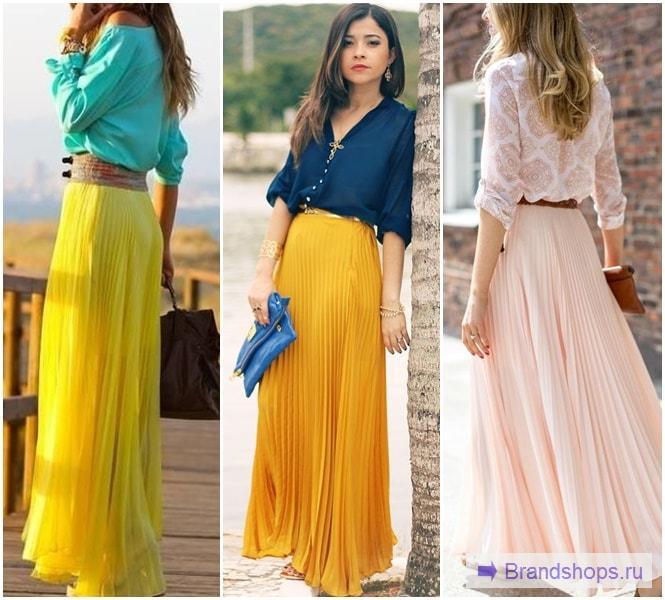 Сочетание юбки с блузкой