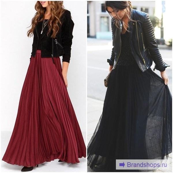 Как сочетается юбка-плиссе с курткой