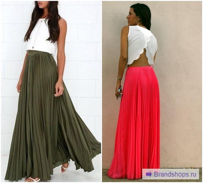 Сочетание юбки с топом до пояса