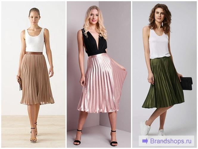 Купить плиссированную юбку миди