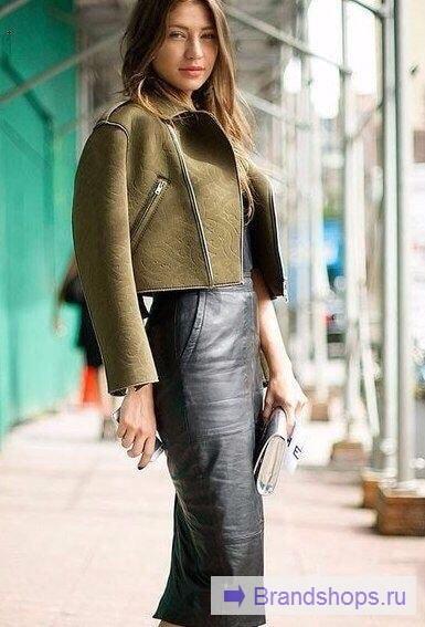 Сочетание юбки с теплой курткой