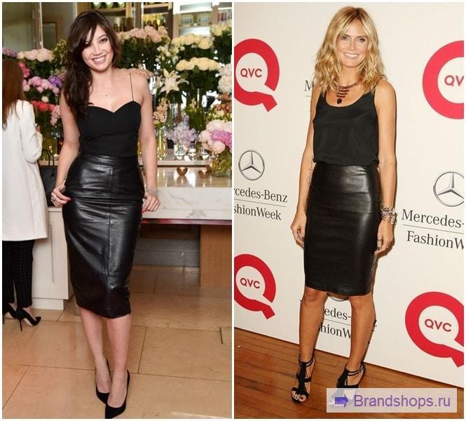 Черная юбка с черным верхом
