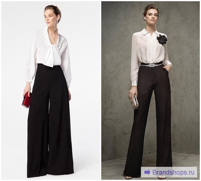 Черные брюки с белой рубашкой